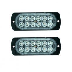 Ζευγάρι Προειδοποιητικά Φώτα-Πλαϊνά 6W LED Universal Πορτοκαλί