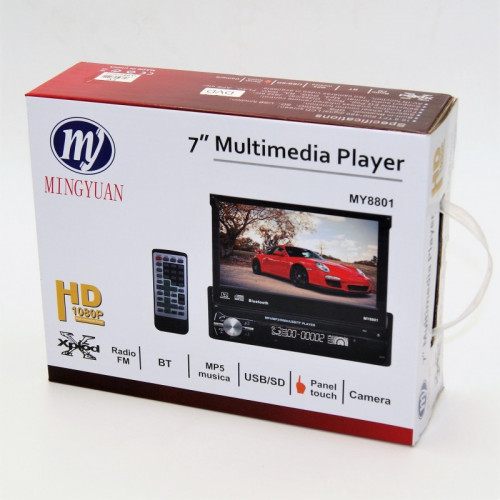 7'' MULTIMEDIA PLAYER RADIO BT MP5 USB/SD CAMERA