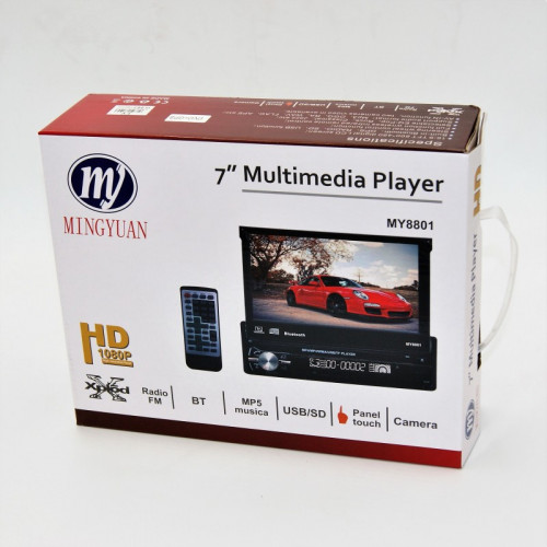 7'' MULTIMEDIA PLAYER RADIO BT MP5 USB/SD CAMERA GPS DVD